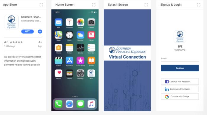 Mobile App Screen Shots 2021